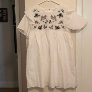 Embroidered white dress